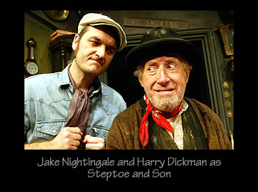 Jake Nightingale and Harry Dickman as Steptoe and Son