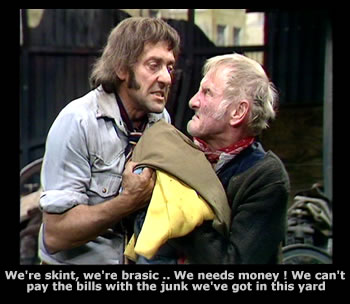 Harry H. Corbett and Wilfrid Brambell as Steptoe and Son