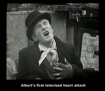 Albert Steptoes very first heart attack